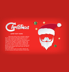 red card christmas day santa claus paper cut out vector image