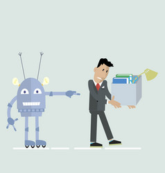 Robot vs man clipart vector