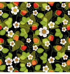 Seamless spring dark floral pattern vector image
