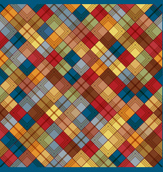 Seamless tartan pattern checkered colorful brown vector
