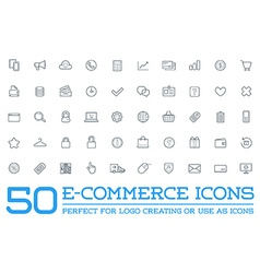 Set e-commerce icons shopping and online can be vector