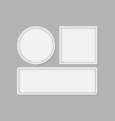 set three minimalistic white frames vector image