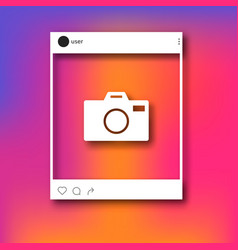 social network post photo frame mockup vector image