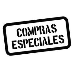 Special buy stamp in spanish vector