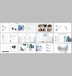 template for website design presentations vector image