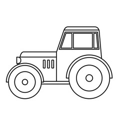 tractor icon outline vector image