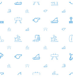 Trainer icons pattern seamless white background vector
