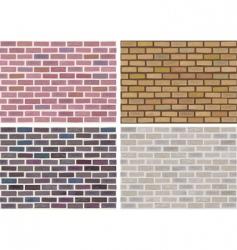 vector seamless brick wall vector image
