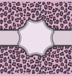 vintage leopard frame with text place vector image
