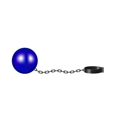 Vintage shackle in blue and black design vector