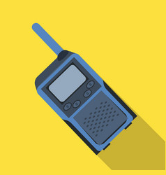 walkie-talkiepaintball single icon in flat style vector image