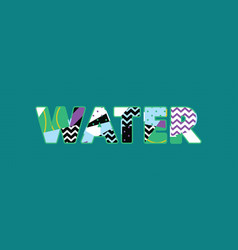 Water concept word art vector