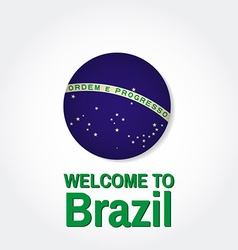Welcome to Brazil Patriotic banner for website vector image