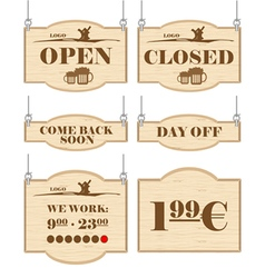 Western bar logo set collection vector image