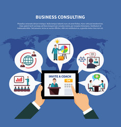 Worldwide business consulting concept vector