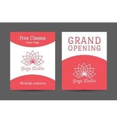 Yoga Studio Brochure Template vector image