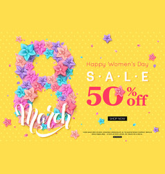 8 march sale banner design for online shopping vector