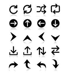Arrow icon sets isolated on white vector image vector image