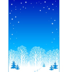 winter night background eps8 vector image