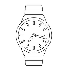 wrist watch icon outline style vector image
