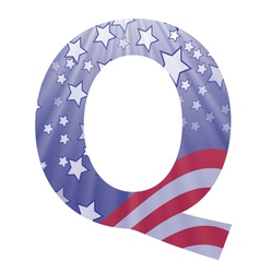 american letter Q vector image vector image