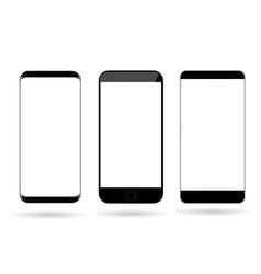 blank mobile phones mockup vector image vector image