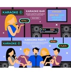 Karaoke banner set vector