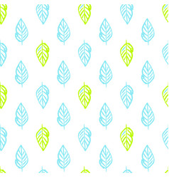 nature plants brush seamless pattern vector image vector image