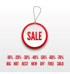 Sale tag 3D vector image vector image