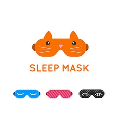 Sleep mask set night sleeping mask icon sleep mask vector
