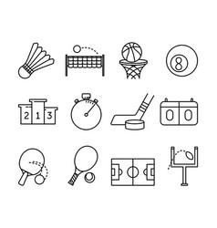 sport activities symbols vector image vector image