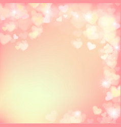 005 blur heart on light pink abstract background vector image vector image