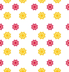 Seamless Texture with Flowers Elegance Kid Pattern vector image