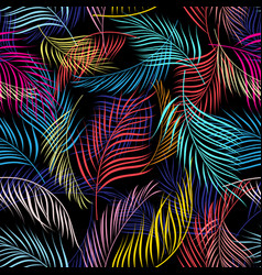 bright multicolored pattern of leaves of palm vector image vector image