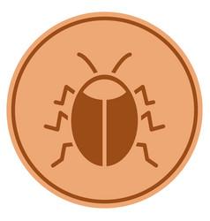 Bug bronze coin vector