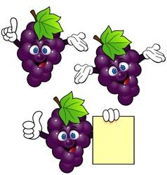 grape cartoon vector image vector image