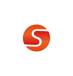 S letter sun symbol logo mockup technology icon vector image vector image
