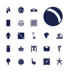 22 sport icons vector