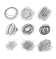 Abstract chaotic round sketch vector image