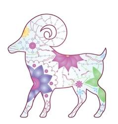 Aries zodiac sign gradient vector