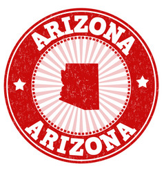 arizona stamp vector image
