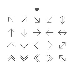 arrows ui pixel perfect well-crafted thin vector image