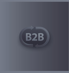 B2b commerce logo with arrows vector
