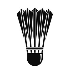 Badminton shuttlecock icon simple style vector