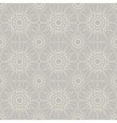 Beige vintage lace seamless ornament vector