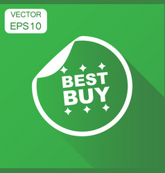 best buy shopping icon business concept sale vector image