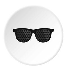 Bifocals icon circle vector