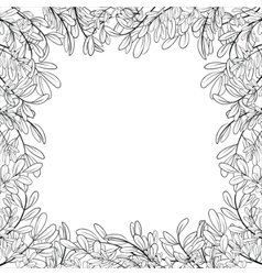 border of leaves vector image