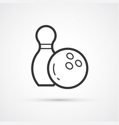 bowling trendy ball icon icon vector image