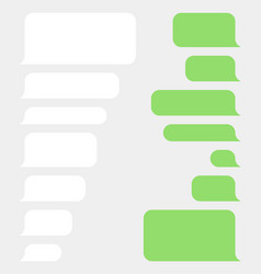 bubble speech set sms or message template vector image